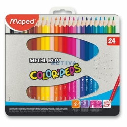 Pastelky Maped Color´Peps Metal Box - 24 barev