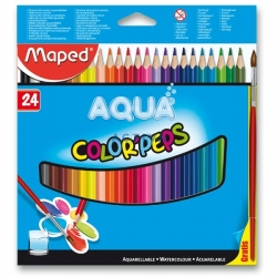 Pastelky Maped Color Peps Aqua 24ks + štětec 202360674
