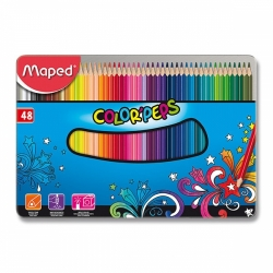 Pastelky Maped Color´Peps Metal Box 48ks