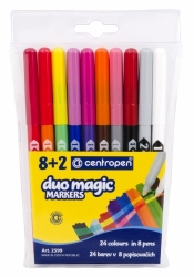 Dětské fixy Centropen Duo Magic sada 8+2 č.2559/10
