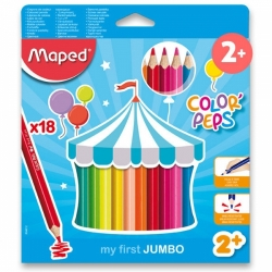 Pastelky Maped Color'Peps Jumbo 18ks