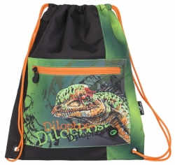 Pytlík na přezůvky Bagmaster s jednorožcem SHOES BAG POLO 6 B GREEN/ORANGE