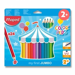 Pastelky Maped Color'Peps Jumbo 24ks