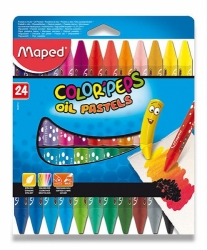 Olejové pastely Maped ColorPeps Oil Pastels - 24 barev