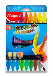 Olejové pastely Maped ColorPeps Oil Pastels - 18 barev